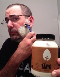 Creative and hilarious vegan, Dave Mosick, makes himself presentable every morning with help from